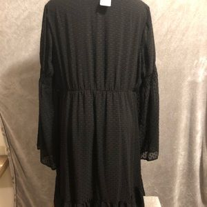 torrid Dresses - Torrid Black Clipper Chiffon Dress 2X 18/20